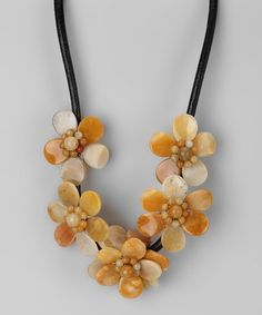 Take a look at this Yellow Jade Blossom Necklace by Gardenia Jewelry on #zulily today!
