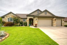 115 Bee Creek Ct Georgetown, TX 78633 | Beautiful home in Sun City backs to a greenbelt section of the golf course, offering privacy and elegance. Home is located in the desirable Bee Creek cul-de-sac. The DeLeon floor plan is one of the most spacious homes offering 2,974 sf with 3 BRs, 2.5 Baths, a great room, dining room, office/flex room, and a sun-room. Additional features include hardwood flooring, cherry finished mantel and custom built-in cabinetry in living room.