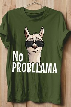 No ProbLlama Funky Alpaca Hipster Llama With Glasses T-Shirt Mom Shirts, Cute Shirts, Funny Shirts, Pretty Outfits, Cool Outfits, Cute Animal Quotes, Alpaca Gifts, Cute Llama, Your Spirit Animal