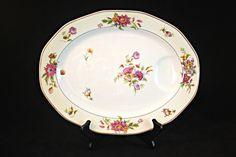 Medium Meat Platter, Théodore Haviland, Limoges France, Haviland Porcelain Platter, Persia Pattern, 1920's French Porcelain, Chop Plate
