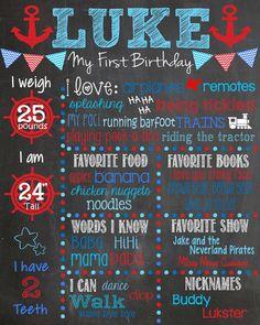 Nautical First Birthday Chalkboard Boy First Birthday Chalkboard 1st Birthday Photoshoot, First Birthday Photos, Boy First Birthday, Birthday Board, Baby Birthday, First Birthday Parties, First Birthdays, Birthday Ideas, Fete Laurent