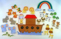 Noah's Ark Felt Board Bible Story Set by byMaree, $30.00 USD