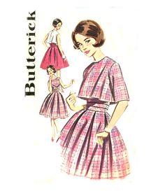 Vintage 60s Cocktail Dress Pattern  Butterick