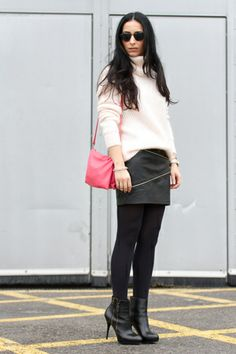 Leather Skirt With Zips - With Or Without Shoes