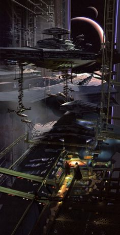 I never remember seeing this shot, but Star Destroyer in the Death Star? Very cool!