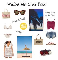 """""""Getaway to the Beach!"""" by rboowybe ❤ liked on Polyvore featuring Straw Studios, The Jacksons, Samudra, Topshop, Flying Monkey, Yosi Samra, Zimmermann, CÉLINE, Tweedmill and Blue Island"""