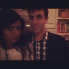 Blurry pair selfies. | 35 Times Mindy Kaling And B.J. Novak's Best Friendship Killed You In The Heart