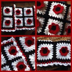 Beautiful,bright,Handmade ... Crochet Poppy Babys Blanket ❤️❤️