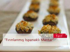Fırınlanmış Ispanaklı Mantar