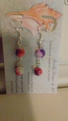 Check out this item in my Etsy shop https://www.etsy.com/listing/386577760/beaded-earrings-just-in-time-for-july