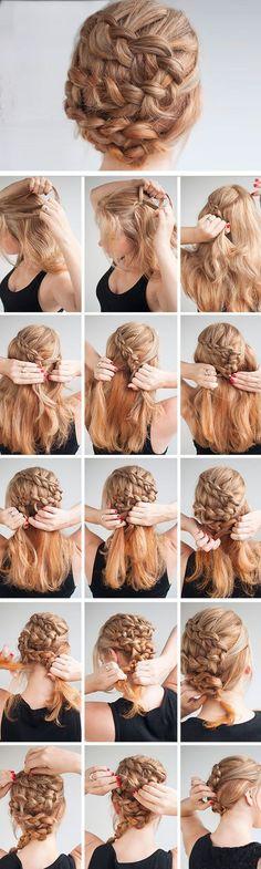 Twisting Braid | DIY Wedding Hairstyles for Medium Hair | Easy Bridesmaids Hairstyles for Long Hair #weddinghairstyles