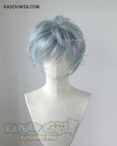 My hero academia Tomura Shigaraki grayish blue messy short cosplay. Cosplay Hair, Cosplay Outfits, Cosplay Wigs, Anime Wigs, Anime Hair, Kawaii Hairstyles, Boy Hairstyles, Kawaii Wigs, Pelo Anime