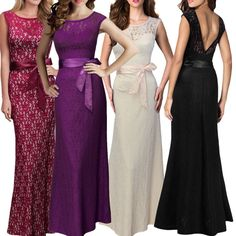 Women Sexy Long Prom Gown Bridesmaid Cocktail Evening Party Maxi Dress #unbranded #StretchBodycon #Cocktail