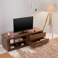 Vector TV Unit (Teak Finish)