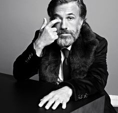 Christoph Waltz by Markus Jans for Vogue Uomo Italia