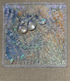 "Carol Walker, Effervesce, 5.25x5.25"", 2-2010 #fiber art #embroidery"