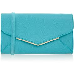 Furla Cherie Laguna Blue Envelope Cross-Body Bag ($125) ❤ liked on Polyvore featuring bags, handbags, shoulder bags, blue, blue purse, blue leather shoulder bag, genuine leather shoulder bag, crossbody purse and crossbody handbags