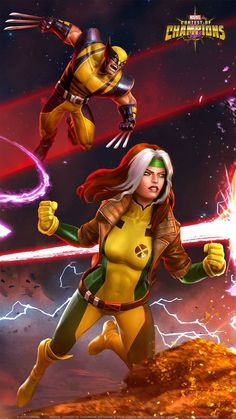 Marvel Contest of Champions Marvel Comic Character, Comic Book Characters, Marvel Characters, Marvel Dc Comics, Marvel Heroes, Avengers Painting, Contest Of Champions, Marvel Cards, Comic Book Girl