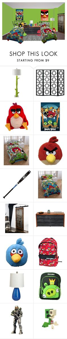 """""""angry birds"""" by sterlingkitten ❤ liked on Polyvore featuring interior, interiors, interior design, home, home decor, interior decorating, Angry Birds, Stray Dog Designs, EASTON and artless"""