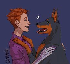 """mOIRA HAS DOGS #Overwatch #fanart"""