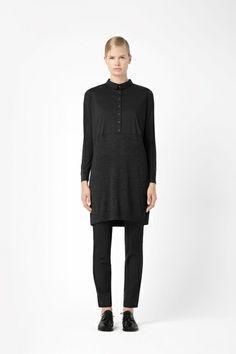 Merino wool shirt dress