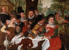 Frans Pourbus Gesellschaft im Freien. full size image at http://www.mleuven.be/en/binaries/pourbus_tcm41-49645.jpg