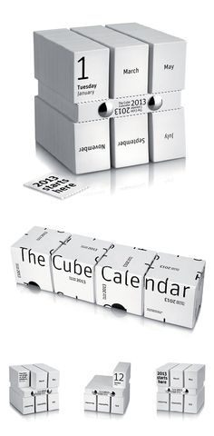 The Cube Calendar by Stroomberg (Amsterdam). Winning HOW International Design Awards project. Enter now to be featured in HOW magazine: http://www.howdesign.com/design-competitions/international-design-awards/