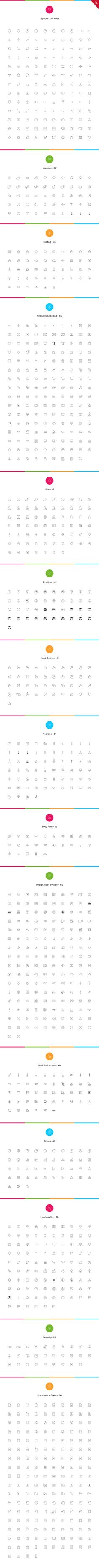 2061 nanoline icons - 70% off by vuuuds on @creativemarket