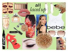 """""""All Laced Up for Spring with bebe: Contest Entry"""" by ht-half-blood-princess ❤ liked on Polyvore featuring Bebe, Bobbi Brown Cosmetics, Christian Dior, Urban Decay, Lime Crime, Coast, Maybelline, Cartier, Qupid and Claire Hart Design"""