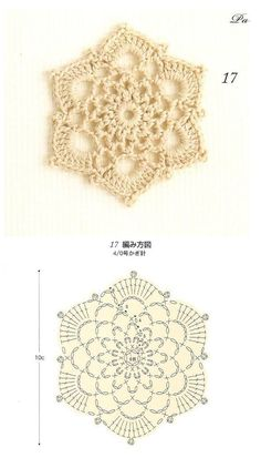 Snowflake pattern chart crochet