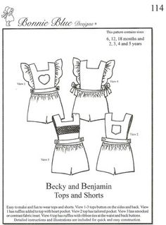 Bonnie Blue Designs - Becky and Benjamin