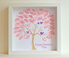 I could easily make this myself!    Mother's Day Personalized Hand Painted 3D by HandPaintedHeartwork, $78.00