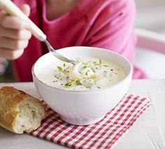 Silky celeriac soup with smoked haddock