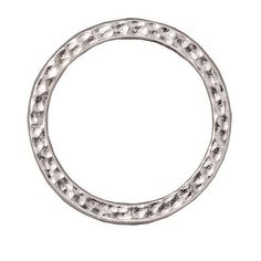REAL RHODIUM PLATED PEWTER ROUND 25MM CONNECTOR LINK RING 2 from beadaholique.com