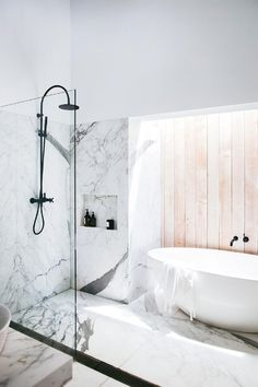 If you have a small bathroom in your home, don't be confuse to change to make it look larger. Not only small bathroom, but also the largest bathrooms have their problems and design flaws. Bathroom Goals, Bathroom Trends, Modern Bathroom, Small Bathroom, Next Bathroom, Bathroom Inspo, Minimal Bathroom, Basement Bathroom, White Bathroom