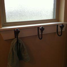 Drapery hardware as towel hooks