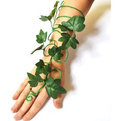Poison ivy arm cuff slave bracelet green fairy arm cuff whimsical... ($44) ❤ liked on Polyvore featuring jewelry, bracelets, arm cuff jewelry, fancy jewelry, green jewelry, fancy jewellery and cuff bangle