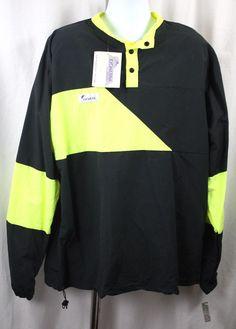 Kichatna Designs Mens Black Yellow Long Sleeve Nylon Wind Shirt NWT Size XL #KichatnaDesigns #Windbreaker
