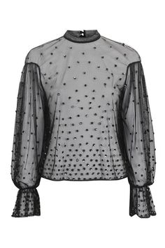 Scattered Sequin Blouse