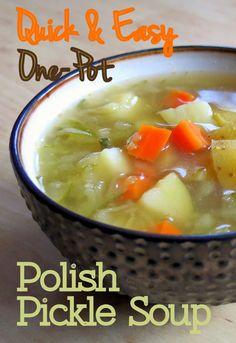 Quick & Easy One-Pot Polish Pickle Soup (Vegan) - I Deliciate.