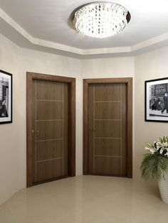 Soft walnut painted internal doors which have the timber graining effect of a real vennered door. JB Kind's Eco Mocha #interiordoor