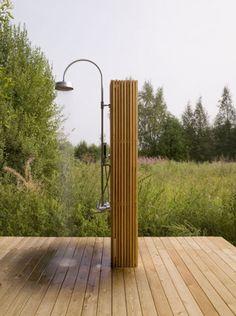 Simple Wooden Summer House by Bureau Bernaskoni – Outdoor Shower