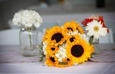 Sunflowers, hydrangeas, & daisies