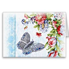 Flutter Bug Greeting Card #cards #blue #butterfly
