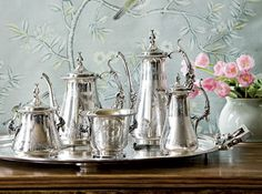 Silver Tea Service.  Pottery Barn could take a few hints from Southern Living