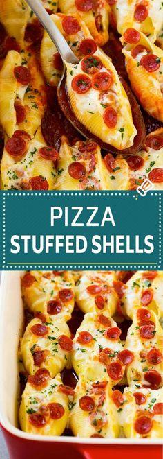 Pizza Stuffed Shells #Pasta #PastaRecipes #Pizza | Recipes News