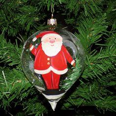 Glob formă din sticlă ST0009 Glass Christmas Ornaments, Christmas Balls, Santa Clause, Glass Ball, Bulb, Holiday Decor, Home Decor, Christmas Baubles, Papa Noel
