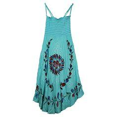Womens Desert Sun Dress Blue >>> For more information, visit image link.