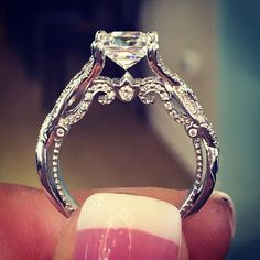 Top 10 vintage rings of 2015 - this is my ring but with a pear shaped diamond on top Dan did a great job!
