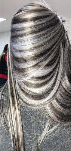 hair highlights balayage hair highlights natural colors Mechas p kreen Mech. hair highlights natural colors Mechas p kreen Mechas p kreen Hair Color And Cut, Cool Hair Color, Hair Colors, Prom Hairstyles, Trendy Hairstyles, Burgundy Hairstyles, Grey Hairstyle, Hairstyle Ideas, Braided Hairstyles